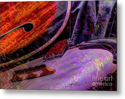 A Southern Combination Digital Banjo And Guitar Art By Steven Langston Metal Print by Steven Lebron Langston