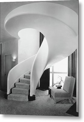 A Spiral Staircase Metal Print by  Hedrich-Blessing