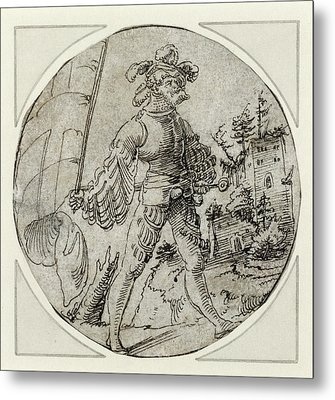 A Standard-bearer Before A Castle Master Of The Berlin Metal Print