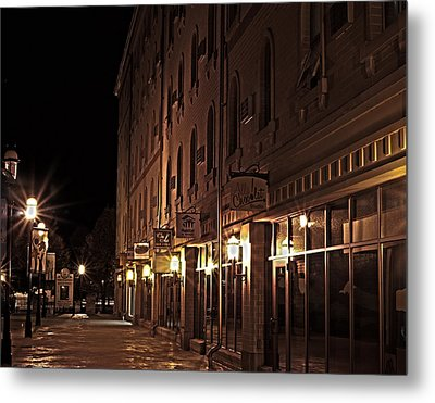Metal Print featuring the photograph A Stroll In The City by Deborah Klubertanz