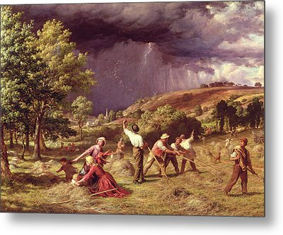 A Thunder Shower, 1859 Metal Print by James Thomas Linnell