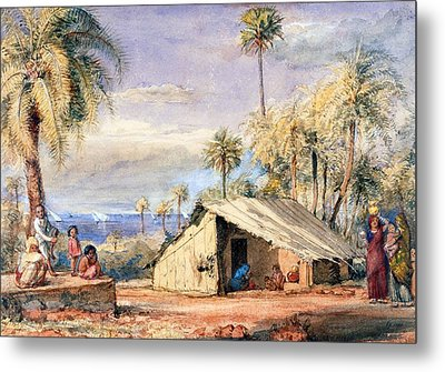 A Toddy-drawers Hut In A Grove Of Date Metal Print by English School