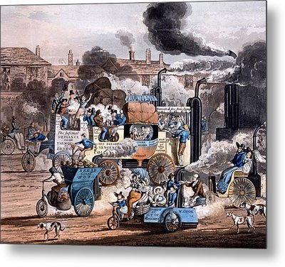 A View In White Chapel Road 1830 Metal Print by English School