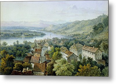 A View Of Karlsruhe Metal Print by Thomas Sidney Cooper