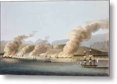 A View Of Linga Or Lung, From The Sea Metal Print by R. Temple