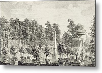 A View Of The Orangery Metal Print by Pieter Andreas Rysbrack