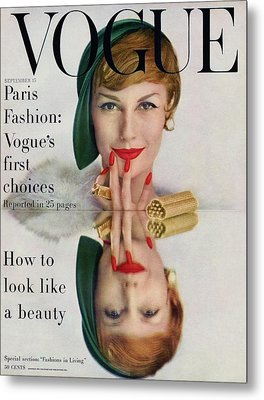 A Vogue Cover Of Mary Jane Russell Metal Print