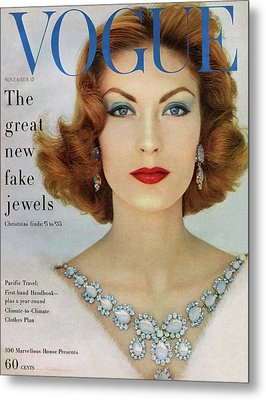 A Vogue Cover Of Mary Mclaughlin Wearing Miriam Metal Print