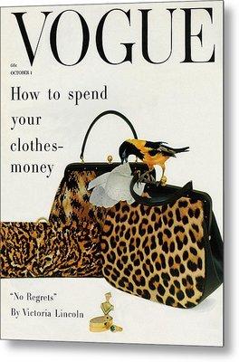 A Vogue Cover Of Nettie Rosenstein Handbags Metal Print by Richard Rutledge