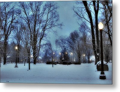 A Walk In The Light Metal Print by Luis A Vera