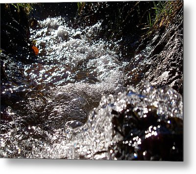 A Watery Dance Of Reflected Light Metal Print by Steve Battle