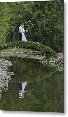 Metal Print featuring the photograph A Wedding In The Park by Judy  Johnson