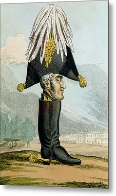 A Wellington Boot Or The Head Metal Print by English School