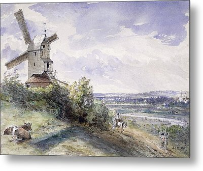 A Windmill At Stoke By Nayland Metal Print