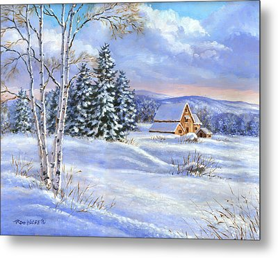A Winter Afternoon Metal Print by Richard De Wolfe