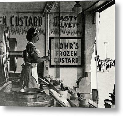 A Woman Selling Custard Metal Print