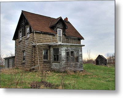 Metal Print featuring the photograph Abandoned Homestead by Jim Vance