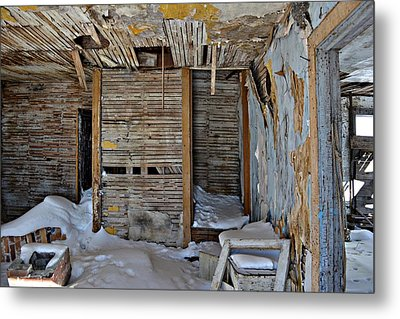 Abandoned House Metal Print by Miss Judith
