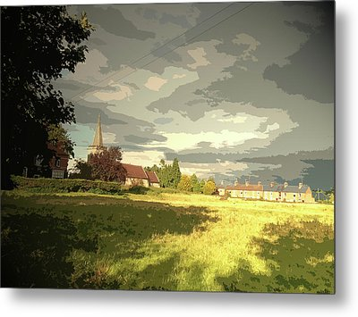 Abbey Fields And St Michaels Church In, Historic Site Metal Print by Litz Collection