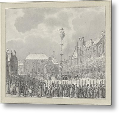 Abolition Of Stadhouderschap On The Grote Markt In Haarlem Metal Print by Quint Lox