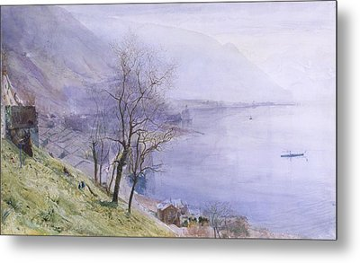 Above Montreux Metal Print by John William Inchbold