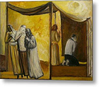Abraham Praying Metal Print by Richard Mcbee