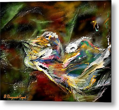 Abstract 2 Metal Print by Francoise Dugourd-Caput