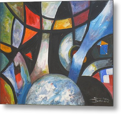 Abstract And The World Metal Print