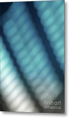 Abstract Blue Reflections Metal Print by Amy Cicconi