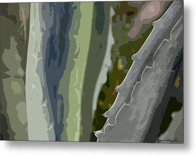 Metal Print featuring the photograph Abstract Century I by Kathy Ponce