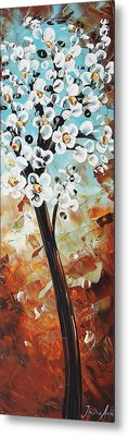 Abstract Flowers Metal Print by Jolina Anthony