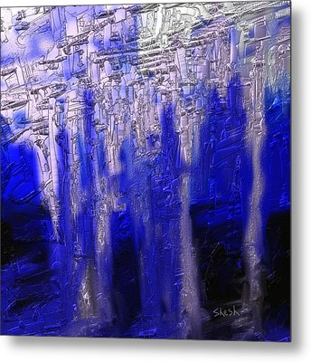 Abstract No. 55 Metal Print by Shesh Tantry