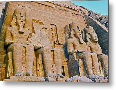 Metal Print featuring the photograph Abu Simbel by Cassandra Buckley