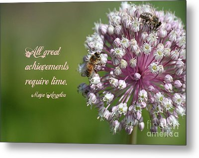 Achievements Require Time Metal Print by Erica Hanel
