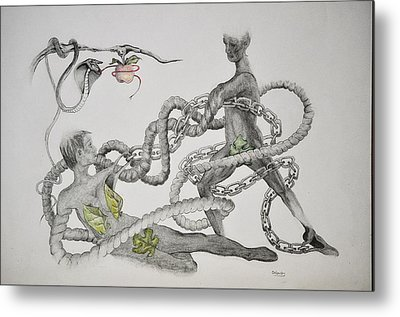Adam And Eve Metal Print by Glenn Calloway