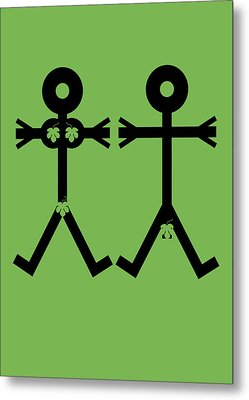 Adam And Eve Icon Metal Print by Thisisnotme