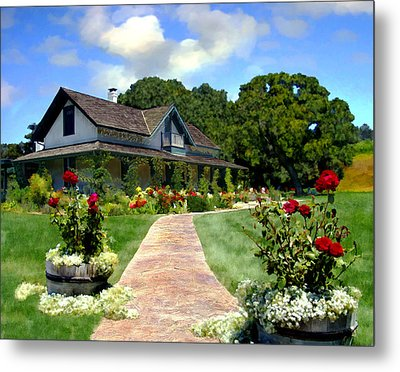 Adobe Alamo Pintado Rideau Vineyards Metal Print by Kurt Van Wagner