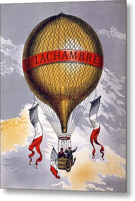 Advertisement For Balloons Manufactured Metal Print by French School