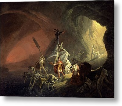 Aeneas And The Sibyl, Unknown Artist, 19th Century Metal Print by Litz Collection