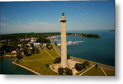 Aerial Perry's Monument  Metal Print by Kevin Cable