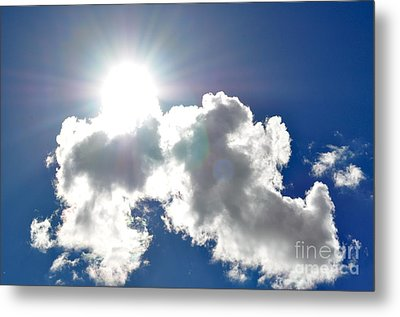 Affirmation Sunlit Oracle Metal Print by Coralie Plozza