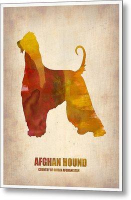 Afghan Hound Poster Metal Print by Naxart Studio
