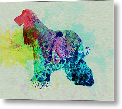 Afghan Hound Watercolor Metal Print by Naxart Studio