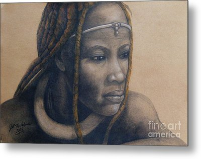 Afican Woman Metal Print