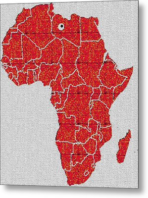 Metal Print featuring the digital art Africa Calling by Giuseppe Epifani