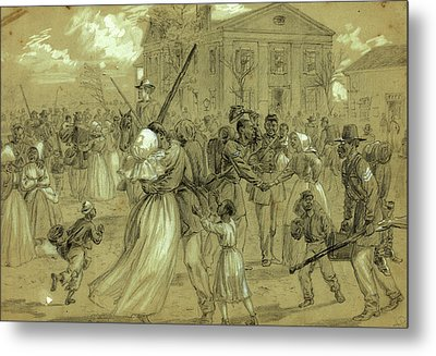 African American Soldiers Mustered Out At Little Rock Metal Print by Quint Lox