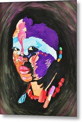 African Woman Metal Print by Glenn Calloway