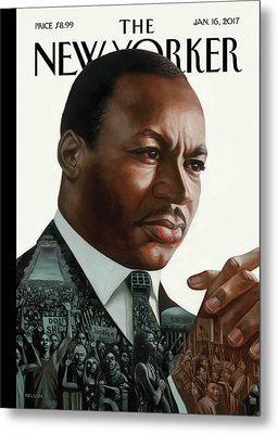 After Dr. King Metal Print by Kadir Nelson
