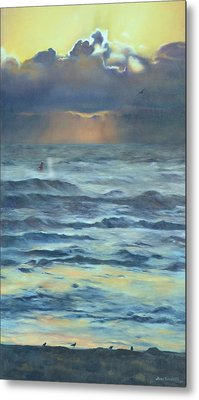 Metal Print featuring the painting After The Storm by Lori Brackett