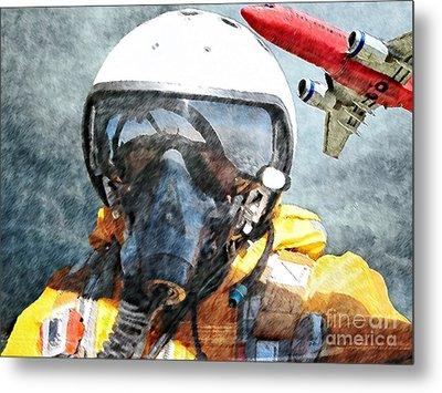 Air Pilot Metal Print by Liane Wright